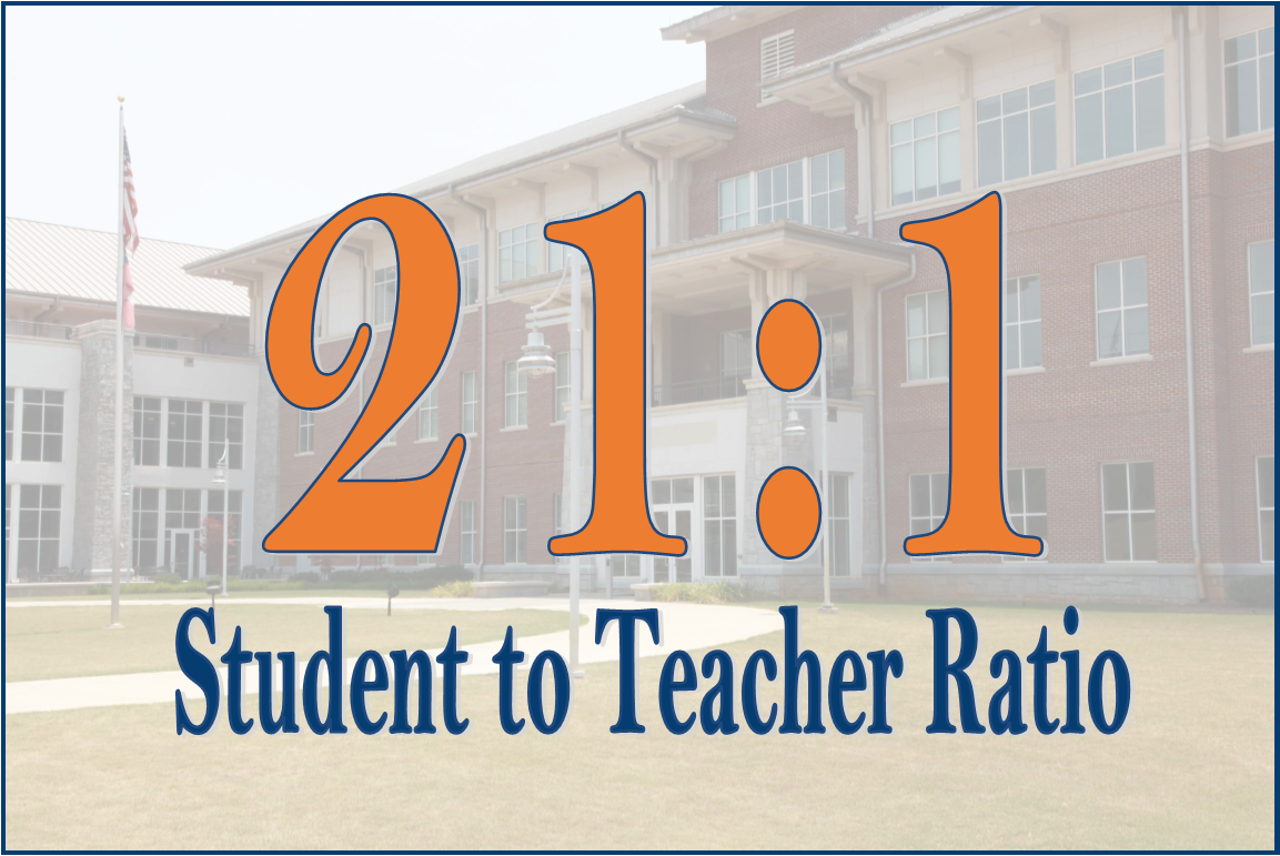 21:1 Student to Teacher Ratio