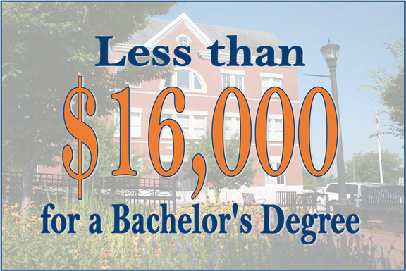 Less than $16,000 for a Bachelor's Degree