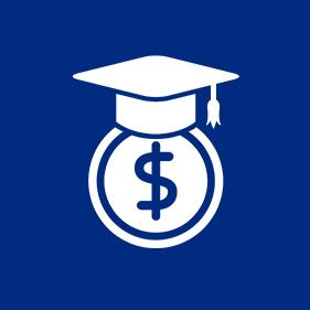 dollar icon with graduation cap