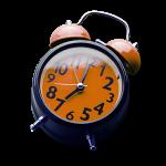 Blue and Orange Alarm Clock