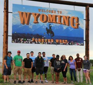Students at Wyoming Trip
