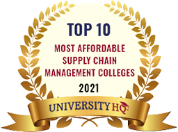 Award for Top 10 Affordable Supply Chain Management Colleges in 2021
