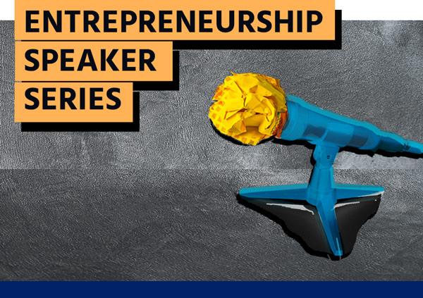 Entrepreneurship Speakers Series - Microphone graphic