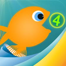 fish eating the number 4