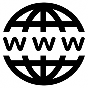 WWW the World Wide Web icon with a circle