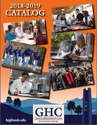 Cover of the 2018-2019 GHC Catalog