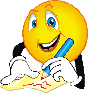 Decorative Image of an Emoticon Writing
