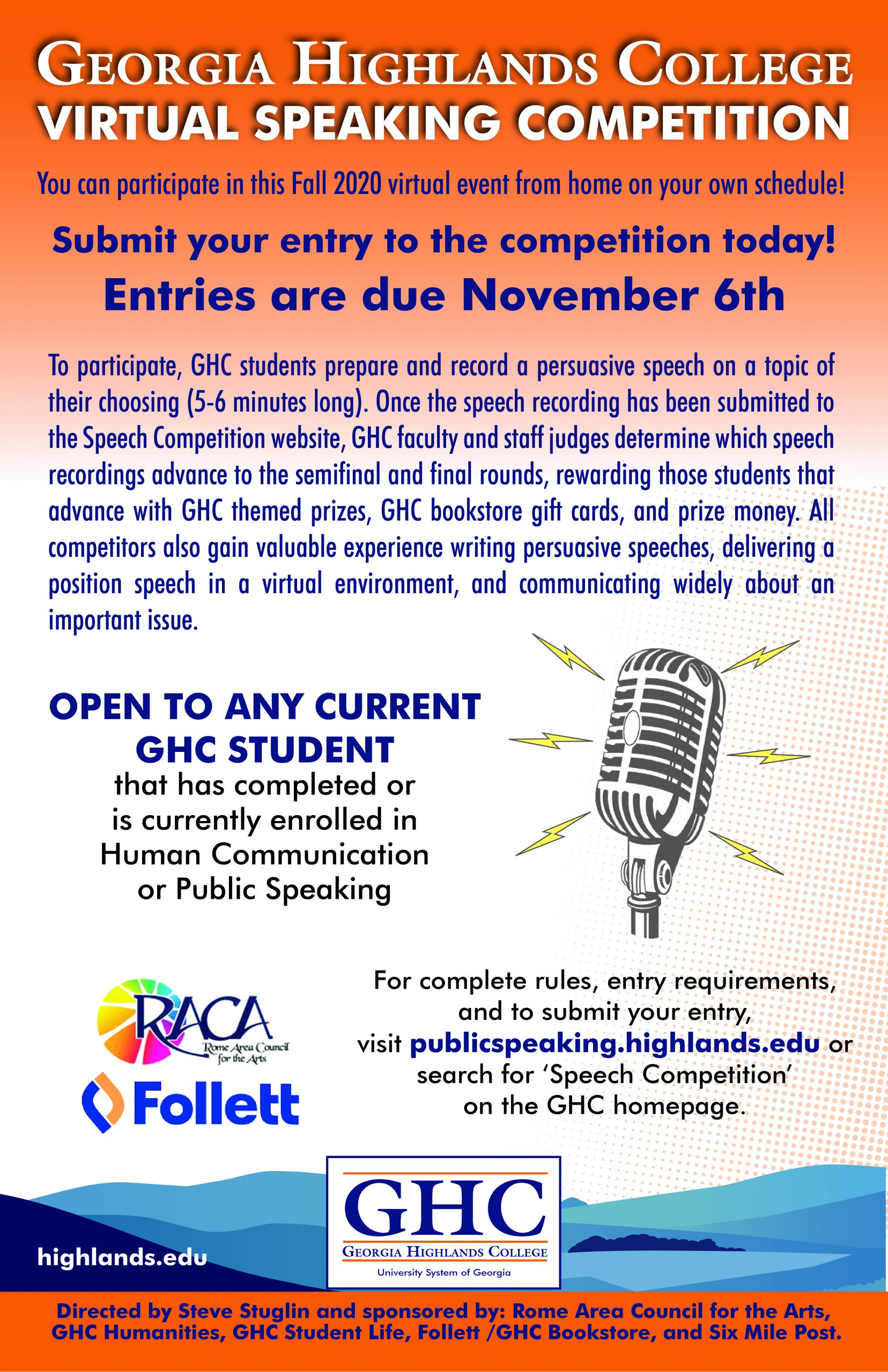 Speech Competition Poster