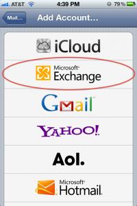 Settings Add Account Screen