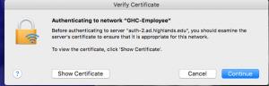 verify certificate dialog