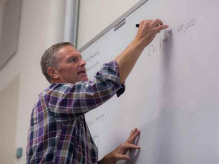 Faculty Member Teaching a Class