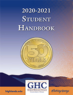 2020-2021 Student Handbook cover