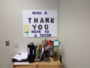 Tutor Appreciation Week Show Thanks Table