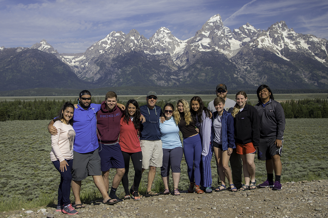 Students in the Grand Teton National Park